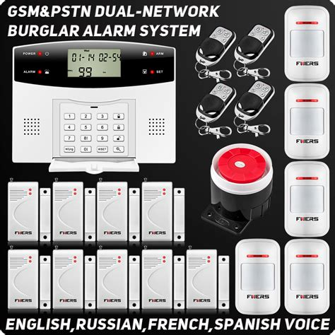 wired house alarm yobang security 99 wireless zones gsm pstn home alarm gsm
