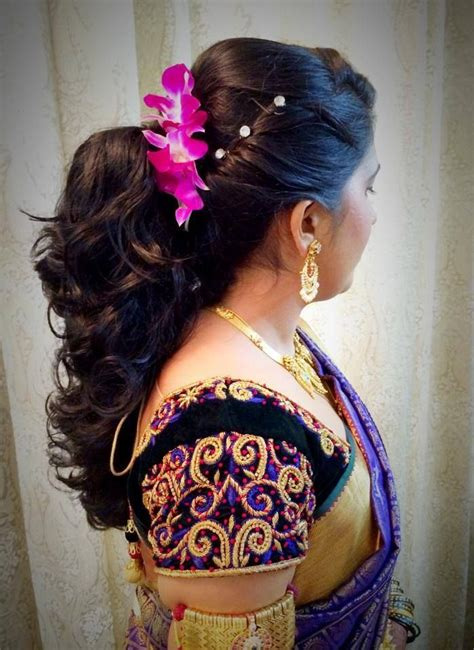 Indian Wedding Reception Hairstyles For Hair by Indian S Bridal Reception Hairstyle By Swank Studio