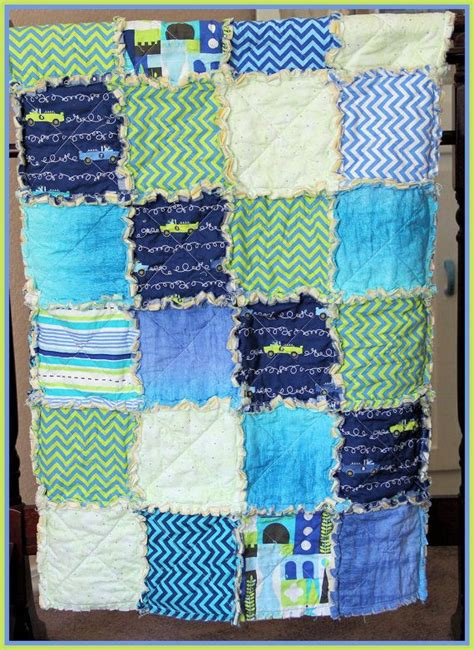 Handmade Baby Boy Quilts - crib blanket baby boy bedding kid s quilt handmade rag