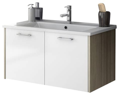 33 inch vanity cabinet with fitted sink contemporary