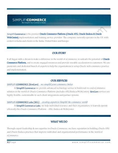 tutorial oracle atg simplifi commerce oracle atg commerce endeca training