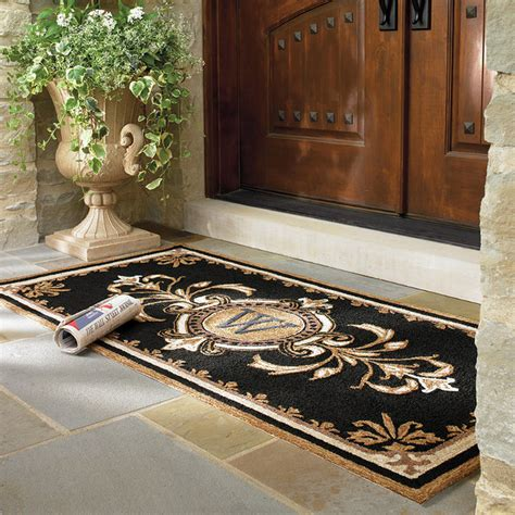 Entry Door Rugs Huntington Monogrammed Entry Mat Traditional Doormats