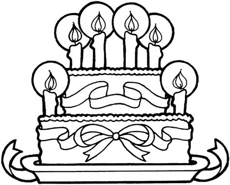 easy birthday coloring pages birthday cakes simple birthday cake coloring page