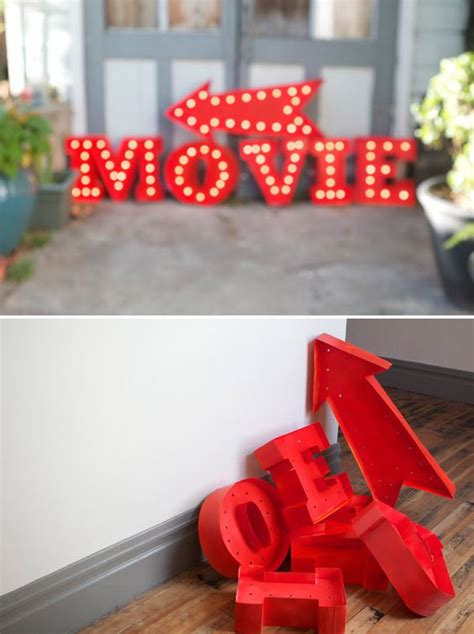 diy light up signs to make pinterest happy vintage