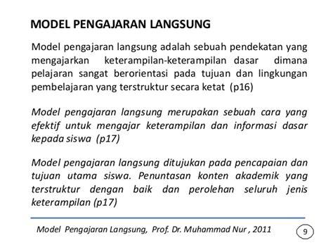 Model Langsung model pembelajaran langsung