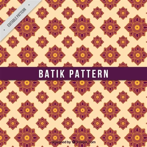 batik pattern psd flower pattern in batik style vector free download