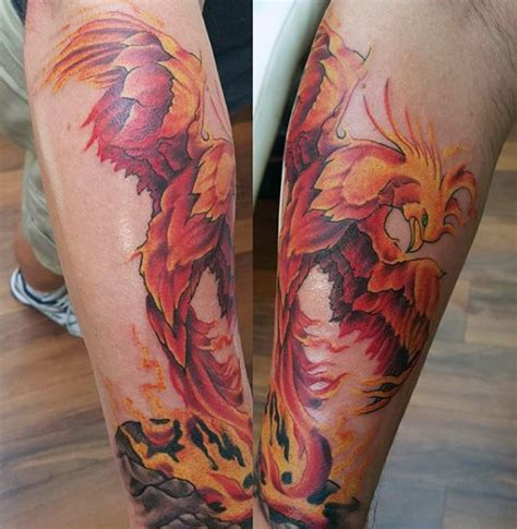 tattoo phoenix on leg 60 phoenix tattoo designs for men a 1 400 year old bird