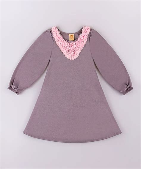 Pink Twiggie Slip On Murah baby gray pink twiggy a line dress toddler gray and a line dresses