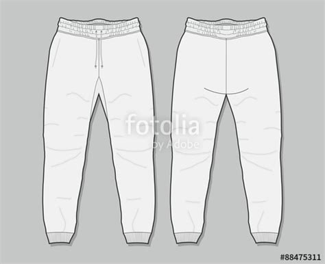 Quot Sweatpants Template Quot Stock Image And Royalty Free Vector Files On Fotolia Com Pic 88475311 Sweatpants Template Vector