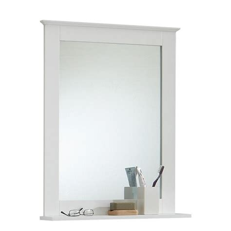 White Bathroom Mirror With Shelf Sweden3 Bathroom Mirror In White With Shelf 13560 Furniture