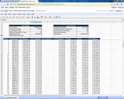 loan payment spreadsheet template spreadsheet templates