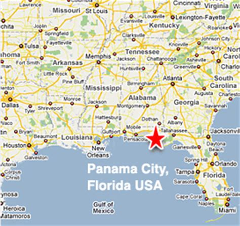 panama city florida on map map of hotels in panama city fl my