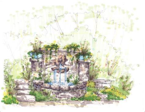 Landscape Architecture Perspective Perspective Drawings Botanica Atlanta Landscape Design