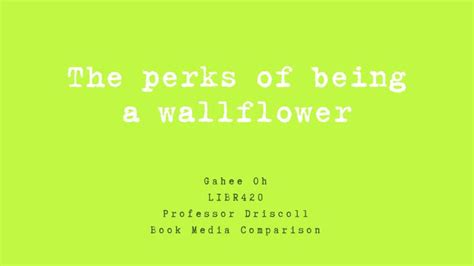 the perks of being ppt the perks of being a wallflower powerpoint presentation id 2458029