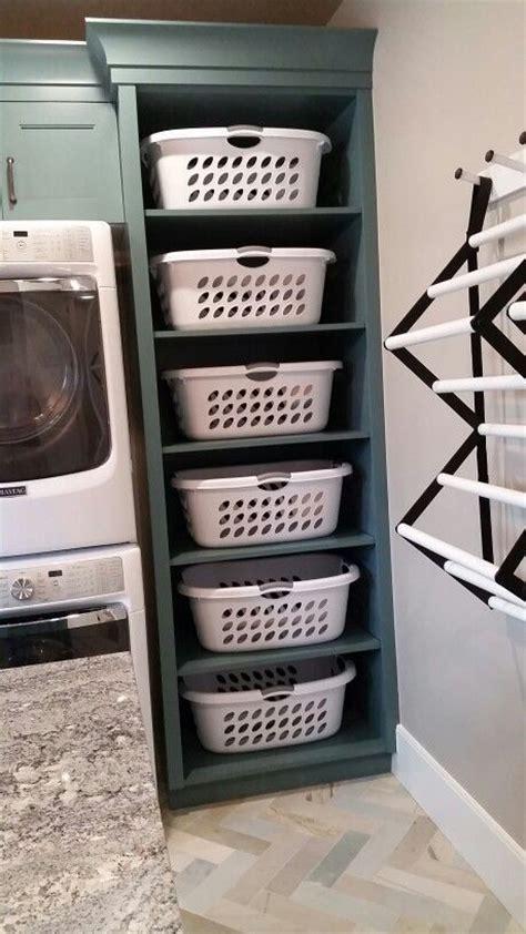 laundry room basket storage best 25 laundry basket organization ideas on