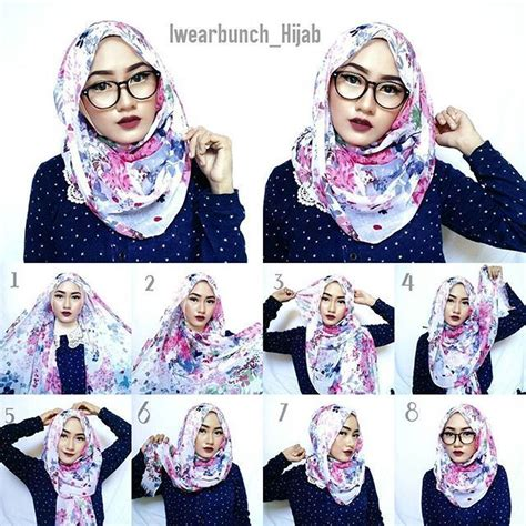 Jilbab Kerudung Sqaure Segiempat Shabby Chic 1000 images about cara pakai shawl on simple tutorial how to wear and square
