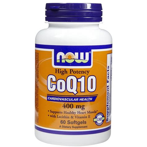 Suplemen Q10 now foods coq10 high potency cardiovascular health 400 mg 60 softgels iherb