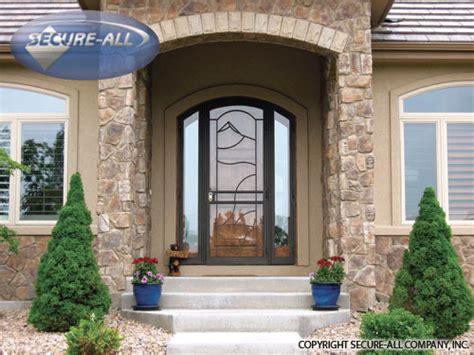 Security Doors Security Storm Doors Wrought Iron Unique Home Designs Security Door