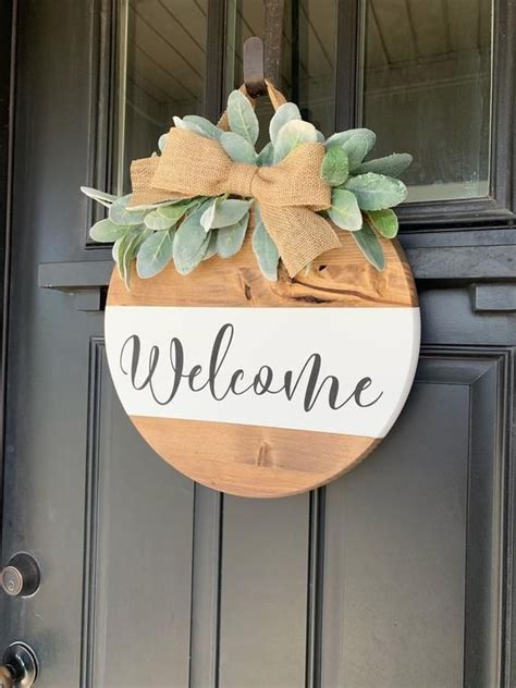 wood sign hanging entry sign front door sign