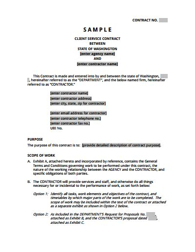 Service Agreement Template Free Download Create Edit Fill And Print Wondershare Pdfelement Editing Contract Template