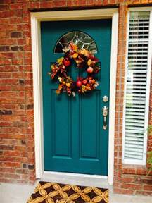 teal front door teal painted front door with red bricks the first thing about this house is i knew i wanted a