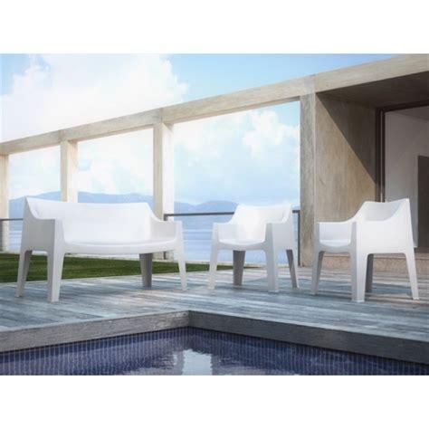 divanetti esterno set da due divanetti per giardino impilabili in polipropilene