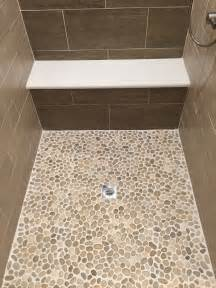 glazed java pebble tile shower pan pebble tile shop