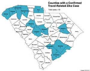 dhec releases map of zika cases in south carolina the