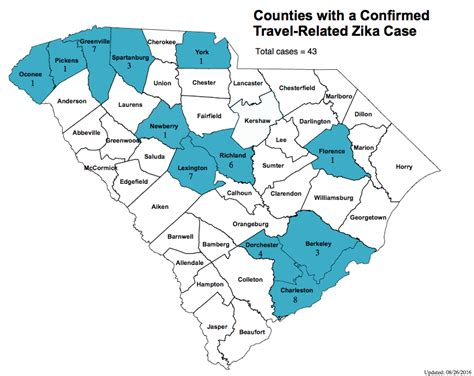 of south carolina dhec releases map of zika cases in south carolina the