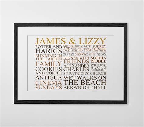 personalised typography print poster or canvas posterhaste