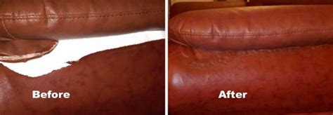 how to repair a rip in a leather couch leather sofa repair color restoration dye refinish