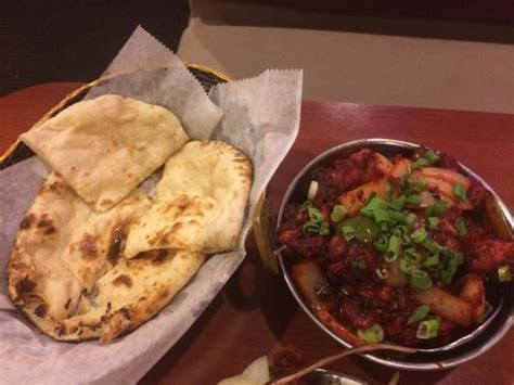 india spice house naan and gobi manchurian