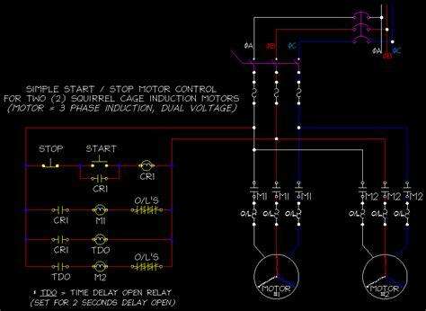 Start Stop Circuit Drawing