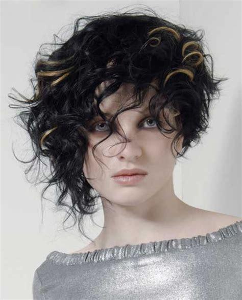 wavy hair short with longer front and shorter back asymmetrical short curly hair styles 2018 2019 short bob