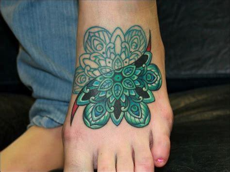 colorful foot tattoos mandala gallery part 3 mandala tattoos