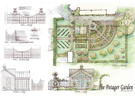 Potager Garden Layout Potager Garden Traditional Site And Landscape Plan