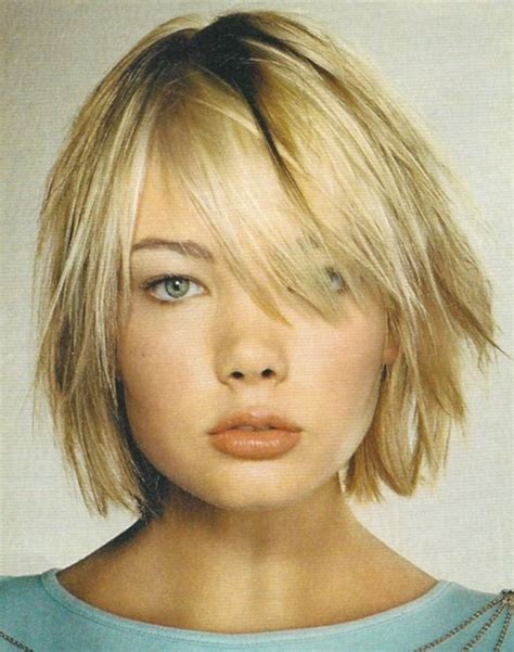 chin length shaggy hairstyles with bangs chin length inverted bob short hairstyle 2013