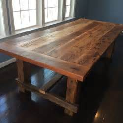 Timber Kitchen Table Farm Style Dining Table Made From Reclaimed Barn Wood On Etsy 1 200 00 Home