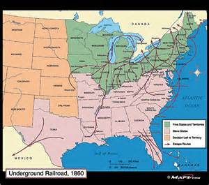 underground railroad map 1860 by maps from maps