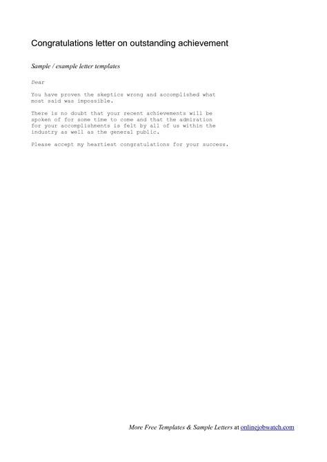 certification congratulation letter achievement congratulations letter exle of a