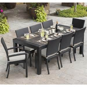 9 Pc Patio Dining Set Rst Brands Deco 9 Dining Set Patio Furniture Free Shipping Today Overstock 16281584