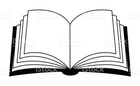 libro outline open book vector clipart symbol icon design stock vector art 508789820 istock