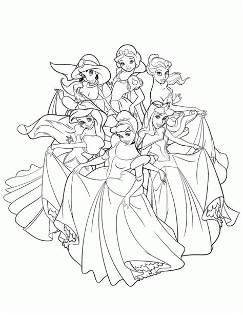 coloring page to print get this free disney princess coloring pages to print 105379