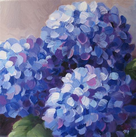 nel s everyday painting triple hydrangeas and a lesson sold nel s everyday painting flowers for martha sold