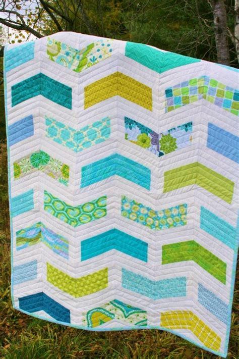 Baby Quilt Patterns Modern by Chevron Baby Quilt Pattern Modern Quilt Pattern Instant