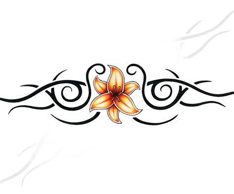 tattoo tribal with flowers tribal flower designs clipart best