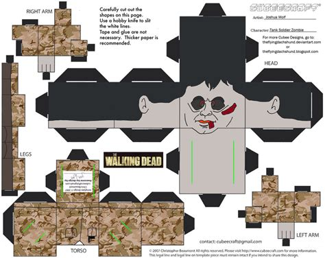 Soldier Papercraft - twd7 tank soldier cubee by theflyingdachshund on
