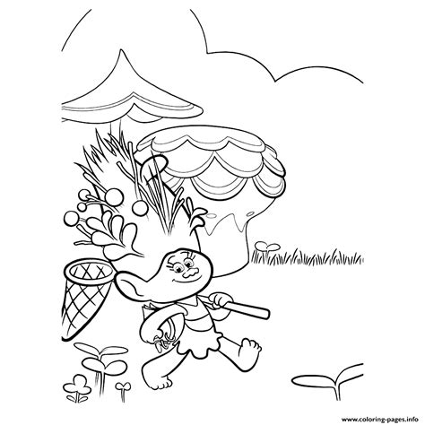troll mandy sparkledust movie coloring pages printable