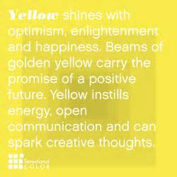 meaning of the color yellow sensational color