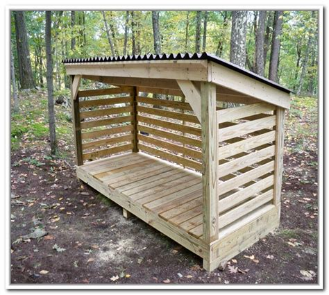 How To Make A Firewood Rack by How To Build A Firewood Storage Shed Shed Types